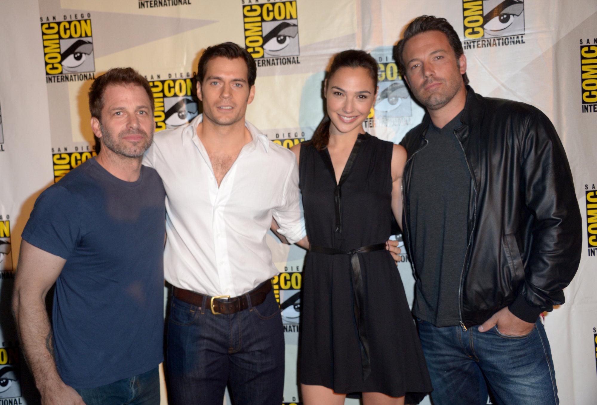 Zack Snyder Henry Cavill Gal Gadot And Ben Affleck